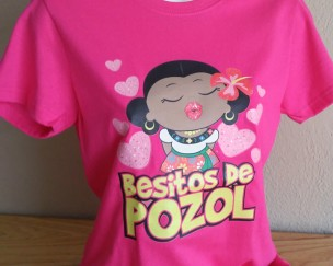 playera besitos pozol